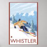 Downhhill Snow Skier - Whistler, BC Canada Print
