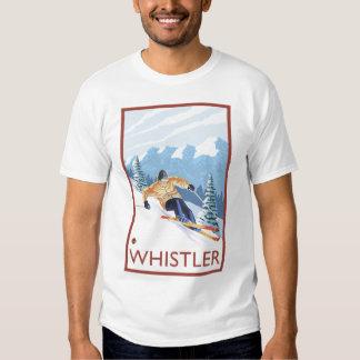 Downhhill Snow Skier - Whistler, BC Canada Tee Shirt