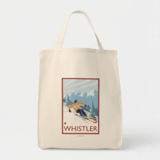 Downhhill Snow Skier - Whistler, BC Canada Tote Bag