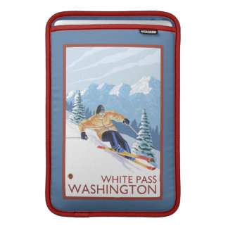 Downhhill Snow Skier - White Pass, Washington MacBook Sleeve