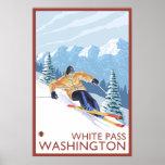 Downhhill Snow Skier - White Pass, Washington Posters