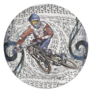 Downhill ALL the way Dinner Plate