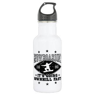 DOWNHILL FAST! (blk) Water Bottle