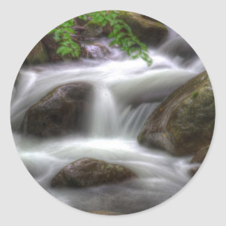 Downhill Flow Classic Round Sticker