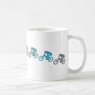 Downhill mountain bike jump coffee mug