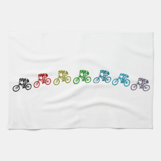 Downhill mountain bike jump hand towel