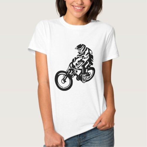Downhill mountain bike rider tee shirts