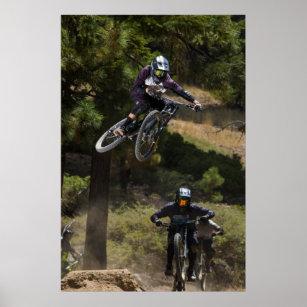 downhill mountain biking posters photo prints zazzle