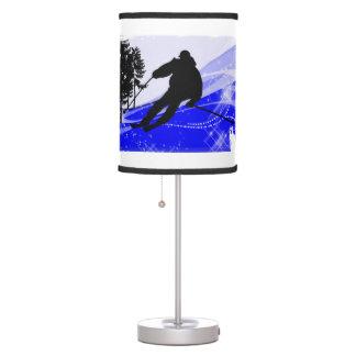 Downhill on Ski Slope ANY COLOR BACKGRND Table Lamp