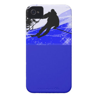 Downhill on the Ski Slope iPhone 4 Case-Mate Case
