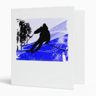 Downhill on the Ski Slope Edges Vinyl Binders