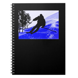 Downhill on the Ski Slope Notebook