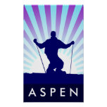 downhill ski aspen posters