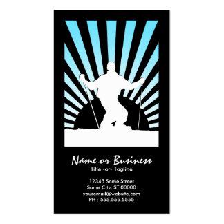 downhill ski business card