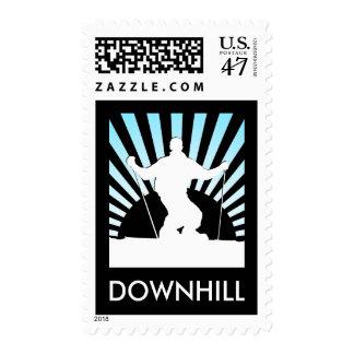 downhill ski postage