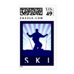 downhill ski postage stamps