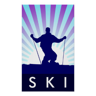 downhill ski poster