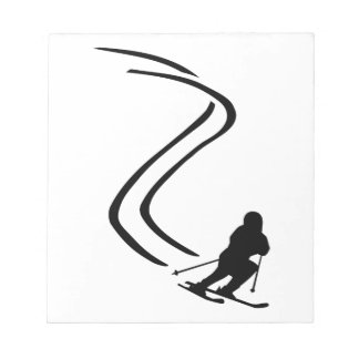 Downhill ski racing notepad