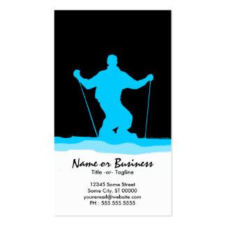 downhill ski stripes business card