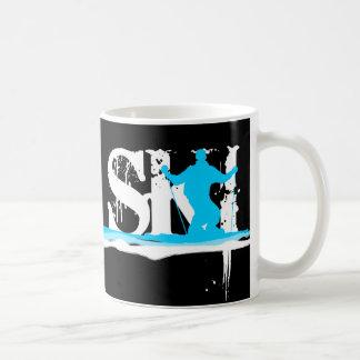 downhill ski stripes coffee mug