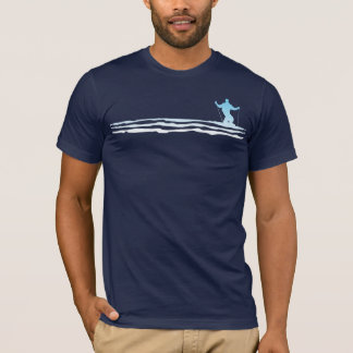 downhill ski stripes T-Shirt