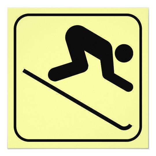 Downhill Ski Symbol Invitation
