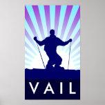downhill ski vail posters