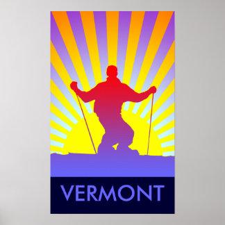 downhill ski vermont poster