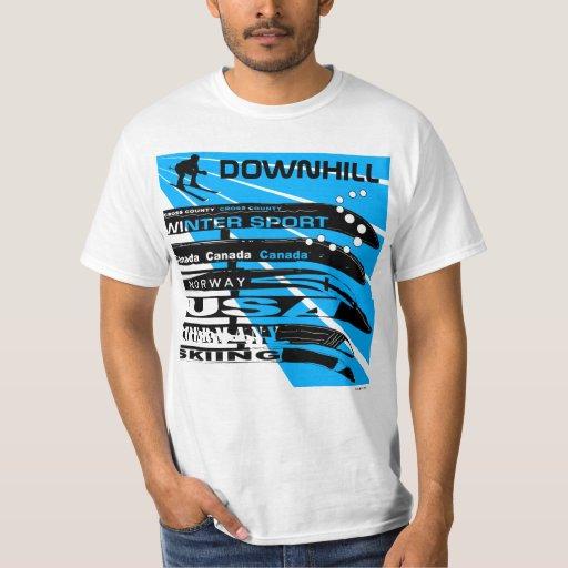 Downhill Ski Winter Sport Snowblade T-Shirt