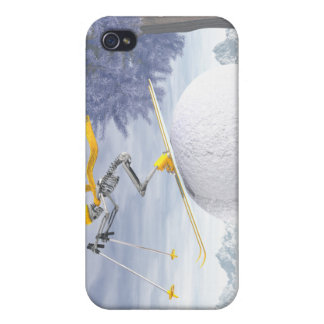 Downhill skier case for iPhone 4