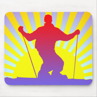 downhill skier mouse pad