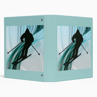 Downhill Skier on Icy Ribbons Binder
