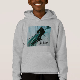Downhill Skier on Icy Ribbons Hoodie