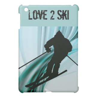 Downhill Skier on Icy Ribbons iPad Mini Cases