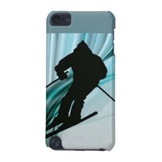 Downhill Skier on Icy Ribbons iPod Touch (5th Generation) Cover