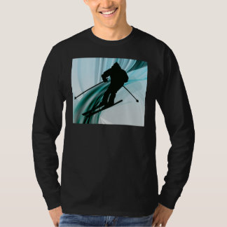 Downhill Skier on Icy Ribbons T-Shirt