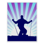 downhill skier posters