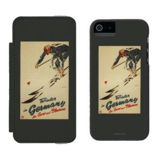 Downhill Skier - Sport and Pleasure Promo Incipio Watson™ iPhone 5 Wallet Case