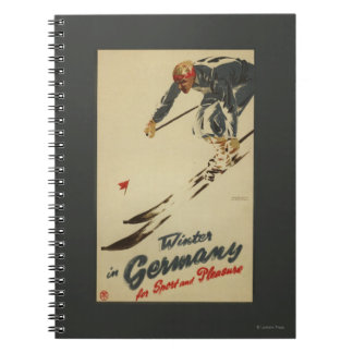 Downhill Skier - Sport and Pleasure Promo Notebook