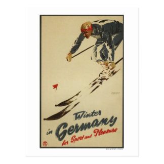 Downhill Skier - Sport and Pleasure Promo Postcard