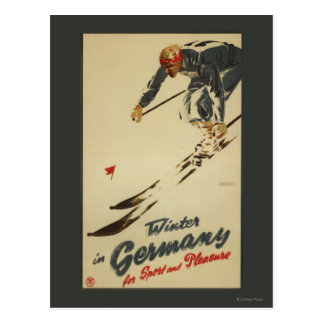 Downhill Skier - Sport and Pleasure Promo Postcard