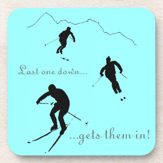 Downhill Skiers drinks mat Drink Coaster