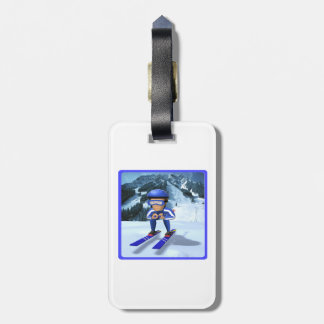Downhill Skiing 2 Bag Tag