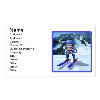 Downhill Skiing 2 Business Cards