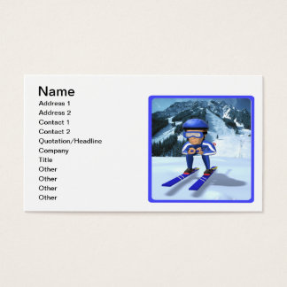 Downhill Skiing 2 Business Card