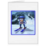 Downhill Skiing 2 Greeting Cards