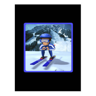 Downhill Skiing 2 Postcard