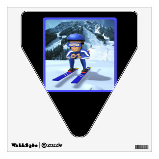 Downhill Skiing 2 Wall Decal