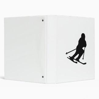 Downhill skiing vinyl binders