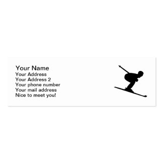 Downhill Skiing Business Card